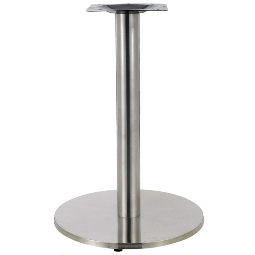 Round Stainless Steel Table Base - 30'' Table Ht