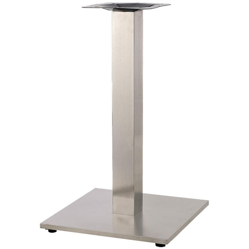 "Square Stainless Steel Table Base - 30"" Table Height"