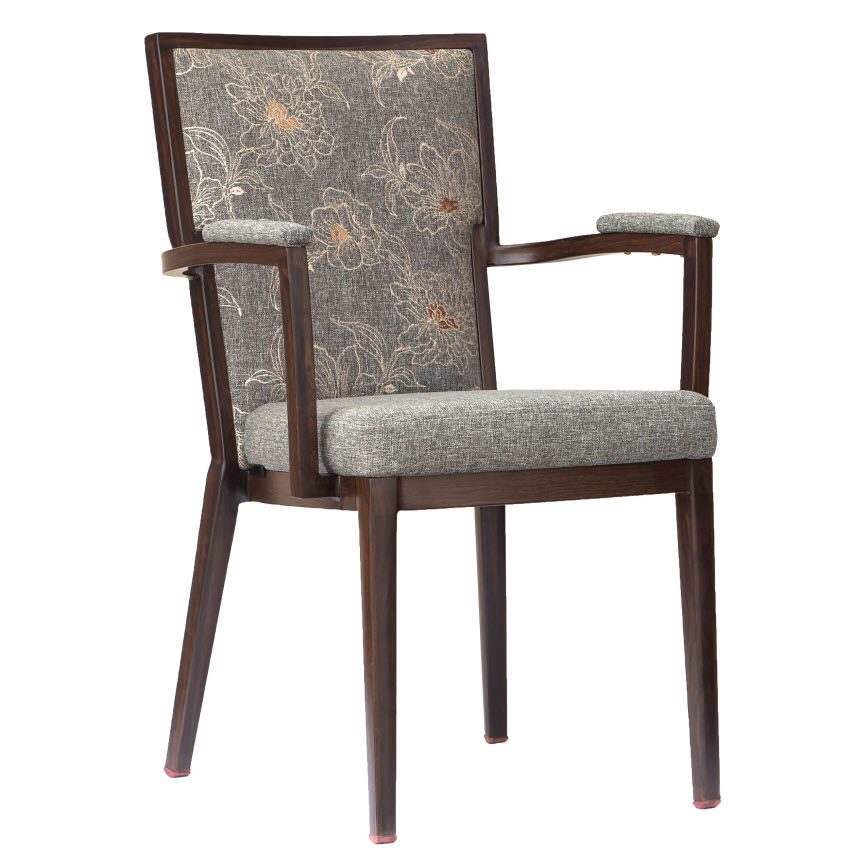 Greebo Wood Grain Finish Aluminum Arm Chair