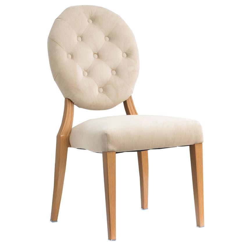 Julianna Wood Grain Aluminum Upholstered Chair