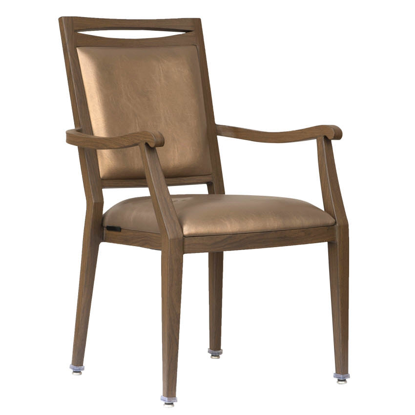 Agnes Padded Aluminum Arm Chair