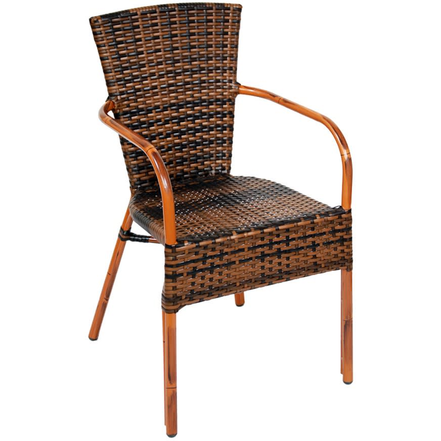 Faux Rattan Aluminum Patio Chair