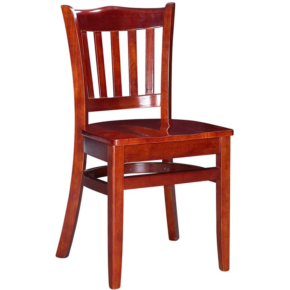 Crown Back Wood Chair