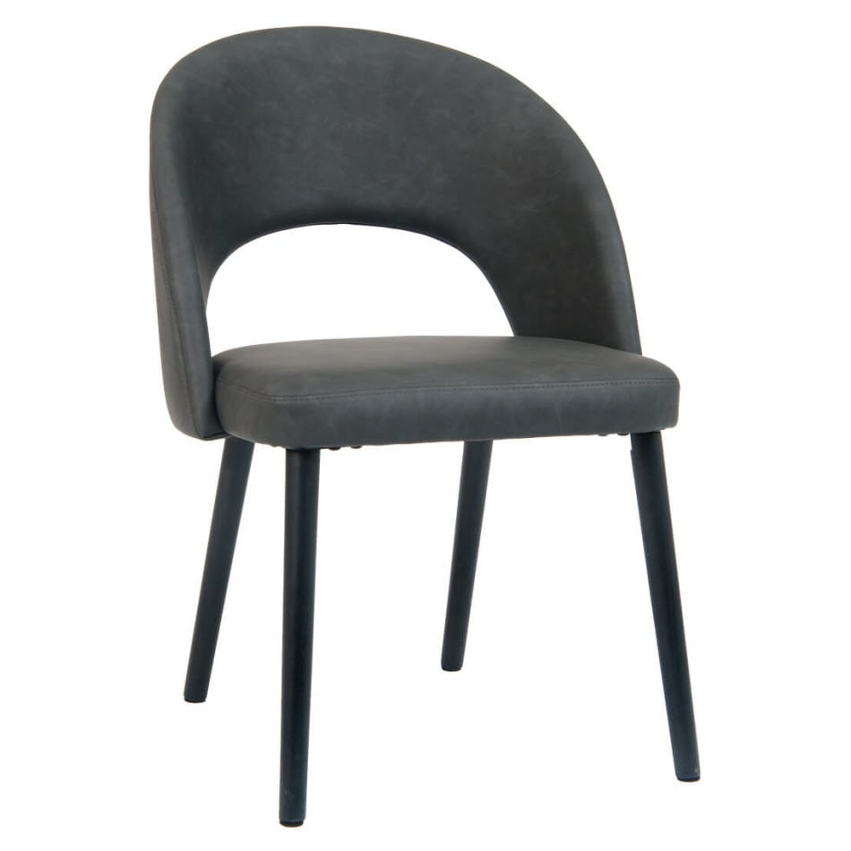 Dark Grey Chair with Black Beechwood Legs