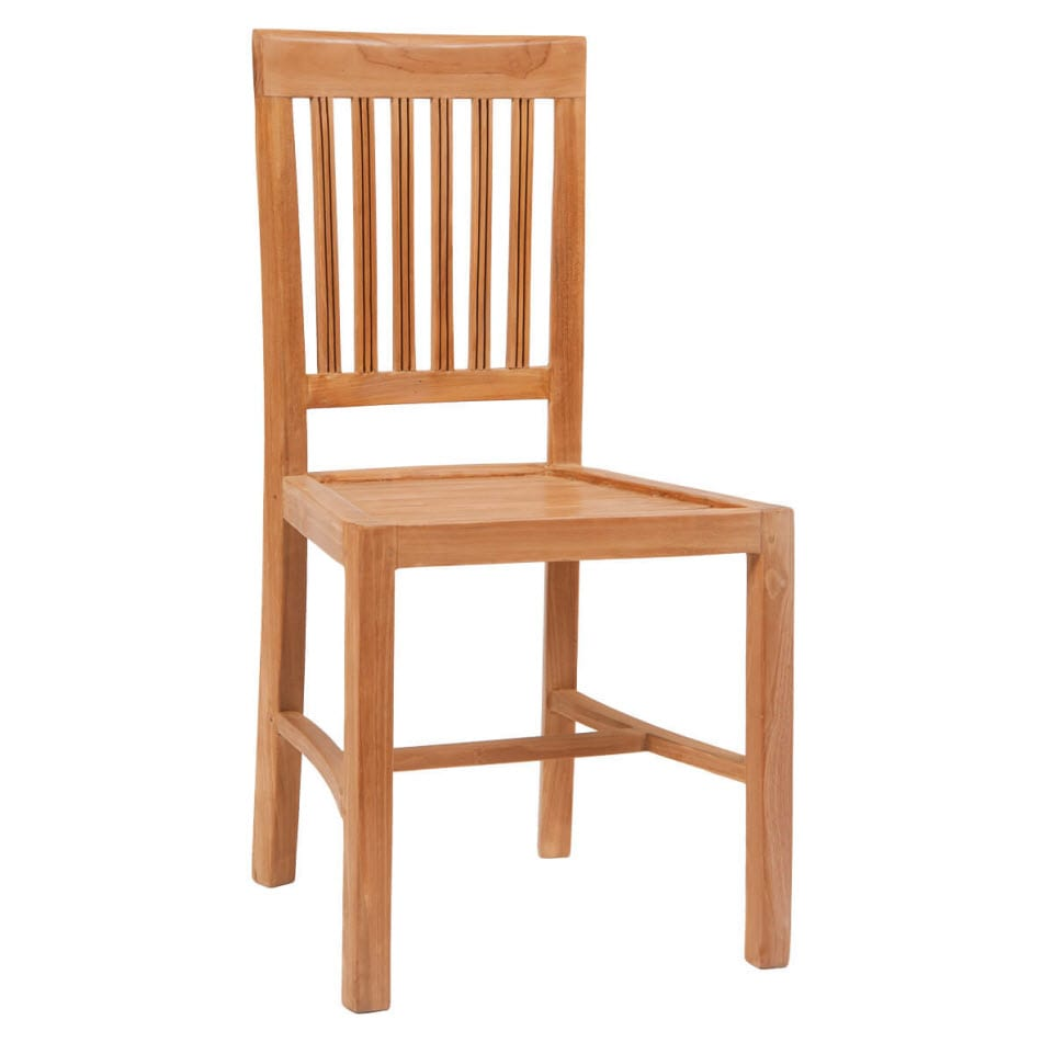 Vertical Slat Teak Wood Restaurant Patio Chair