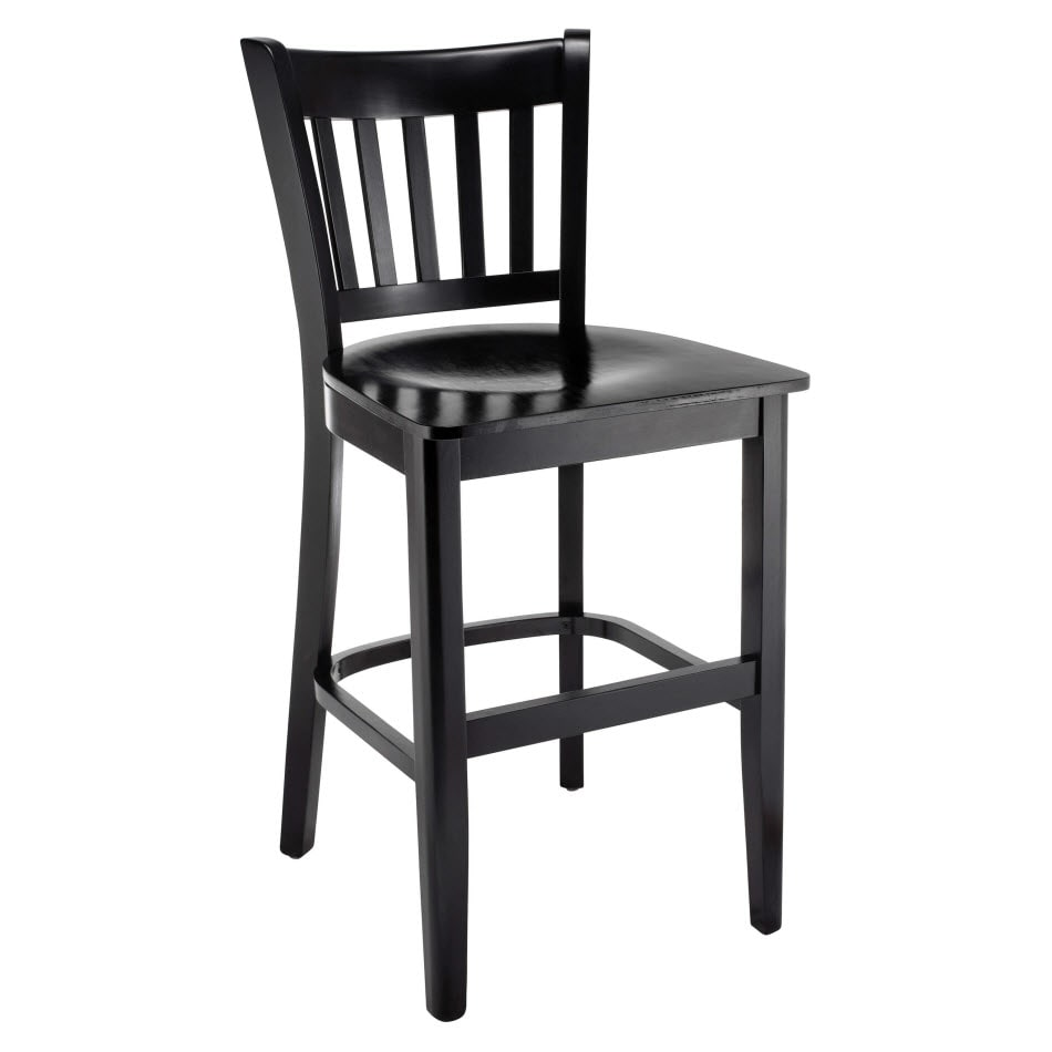 Premium US Made  Vertical Slat Wood  Counter Stool