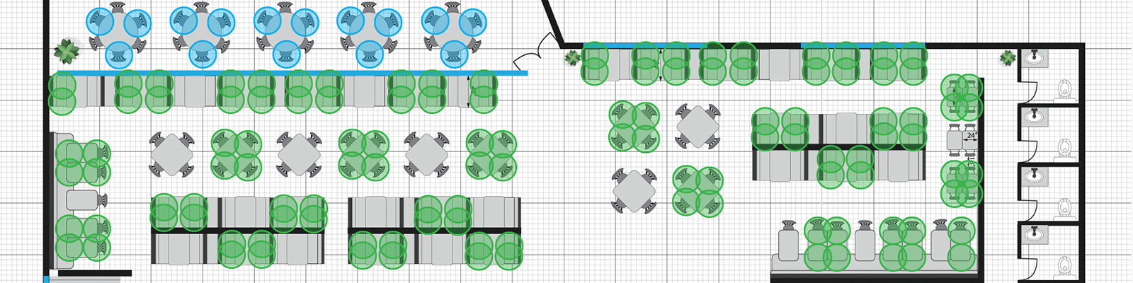 Covid-19 Compliant Seating Layout