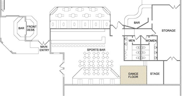 restaurant and bar floor plan