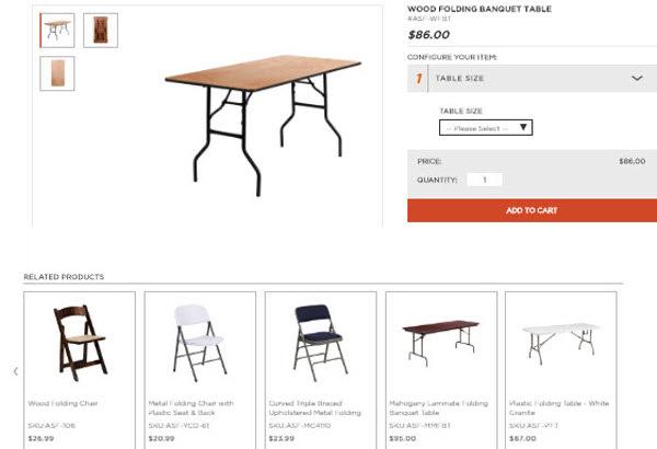 Restaurant folding table