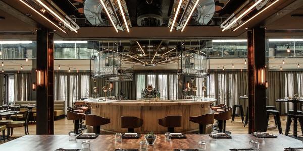 Industrial cafe house design