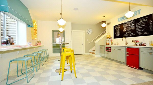 Ice-cream parlor interior design and furniture