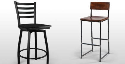 Metal Restaurant Bar Stools