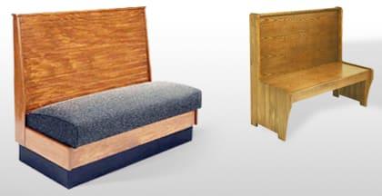 Wood Restaurant Booths